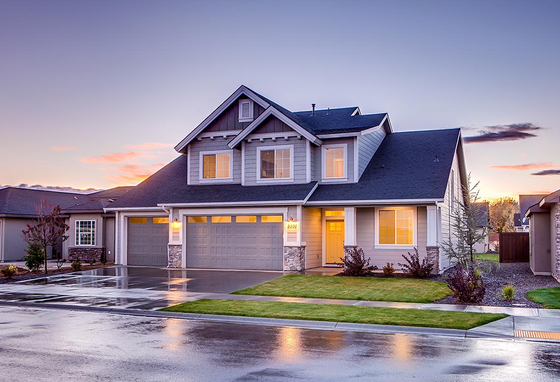 House with asphalt roofing - Copy